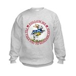 Follow Me To Wonderland Kids Sweatshirt