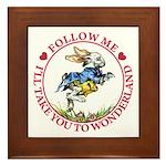 Follow Me To Wonderland Framed Tile