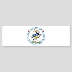 Follow Me To Wonderland Sticker (Bumper)