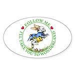 Follow Me To Wonderland Sticker (Oval 10 pk)