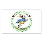 Follow Me To Wonderland Sticker (Rectangle 50 pk)