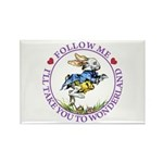 Follow Me To Wonderland Rectangle Magnet (100 pack