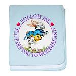 Follow Me To Wonderland baby blanket