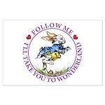 Follow Me To Wonderland Large Poster