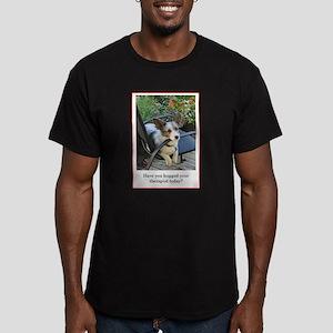 Dog Therapist Men's Fitted T-Shirt (dark)
