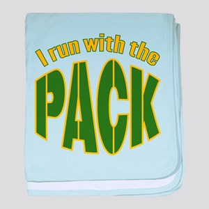 I run with The Pack baby blanket