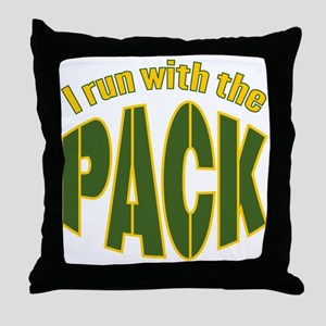 I run with The Pack Throw Pillow