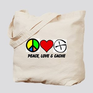 Peace, Love & Cache Tote Bag