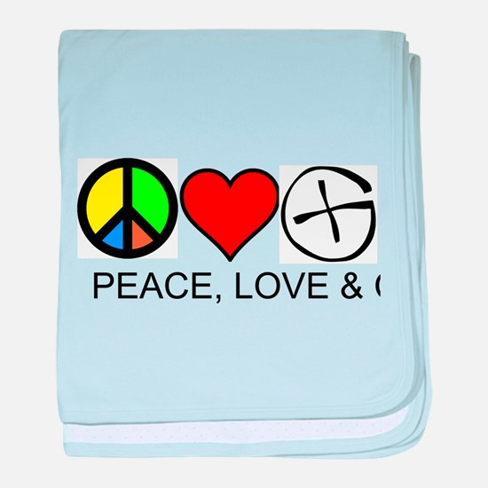 Peace, Love & Cache baby blanket