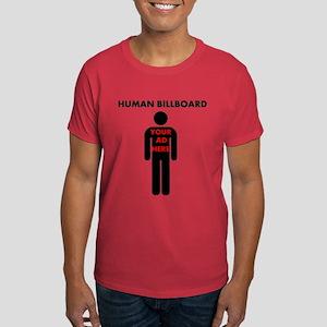 Human Billboard, Your Ad Here Dark T-Shirt