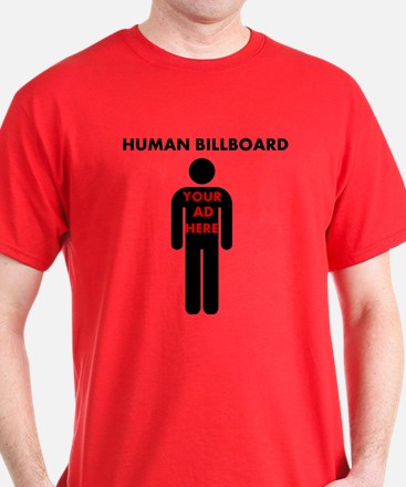 Human Billboard, Your Ad Here T-Shirt