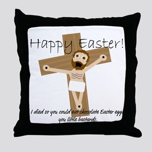 Happy Easter Jesus! Throw Pillow