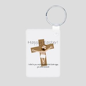 Happy Easter Jesus! Aluminum Photo Keychain