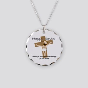 Happy Easter Jesus! Necklace Circle Charm