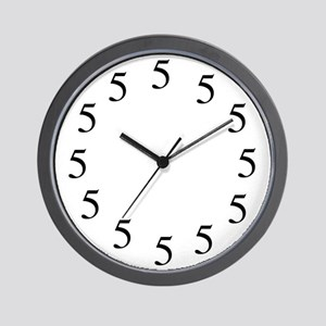 All Fives Wall Clock