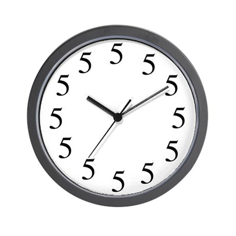 All Fives Wall Clock