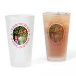 I'm Mad, You're Mad Drinking Glass