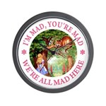 I'm Mad, You're Mad Wall Clock