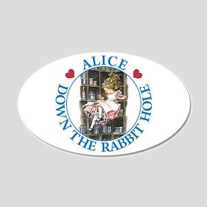 Alice Down the Rabbit Hole 22x14 Oval Wall Peel