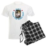 Alice Down the Rabbit Hole Men's Light Pajamas