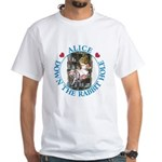 Alice Down the Rabbit Hole White T-Shirt