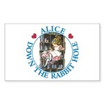 Alice Down the Rabbit Hole Sticker (Rectangle)