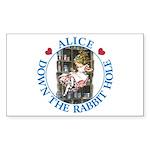 Alice Down the Rabbit Hole Sticker (Rectangle 10 p