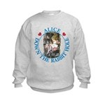 Alice Down the Rabbit Hole Kids Sweatshirt