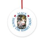 Alice Down the Rabbit Hole Ornament (Round)