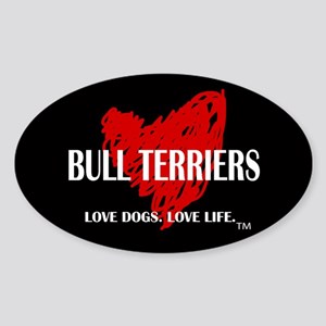Love Bull Terriers Sticker (Oval)