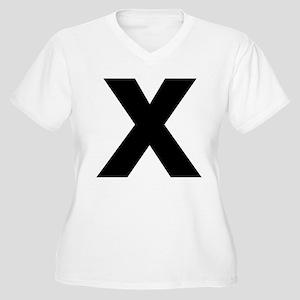 Letter X Women's Plus Size V-Neck T-Shirt