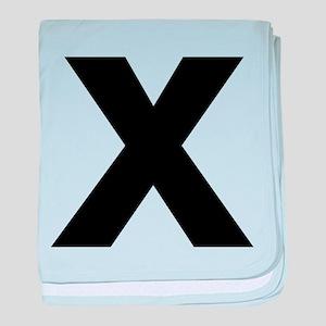 Letter X baby blanket