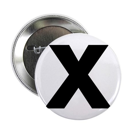 "Letter X 2.25"" Button (10 pack)"