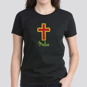 Melva Bubble Cross Women's Dark T-Shirt