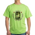 Alice Down the Rabbit Hole Green T-Shirt