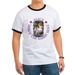 Alice Down the Rabbit Hole Ringer T