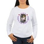 Alice Down the Rabbit Hole Women's Long Sleeve T-S