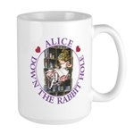 Alice Down the Rabbit Hole Large Mug