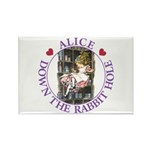 Alice Down the Rabbit Hole Rectangle Magnet (10 pa