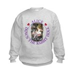 Alice Down the Rabbit Hole Kids Sweatshirt