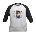 Alice Down the Rabbit Hole Kids Baseball Jersey