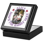 Alice Down the Rabbit Hole Keepsake Box