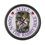 Alice Down the Rabbit Hole Large Wall Clock