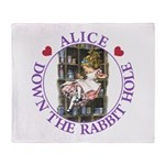 Alice Down the Rabbit Hole Throw Blanket