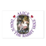 Alice Down the Rabbit Hole Postcards (Package of 8