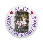 Alice Down the Rabbit Hole Ornament (Round)