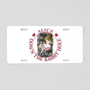 Alice Down the Rabbit Hole Aluminum License Plate