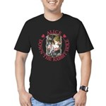 Alice Down the Rabbit Hole Men's Fitted T-Shirt (d