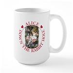 Alice Down the Rabbit Hole Large Mug
