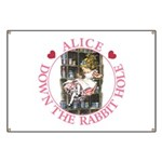 Alice Down the Rabbit Hole Banner
